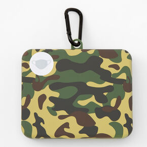 Camo Face Mask Case - Green,