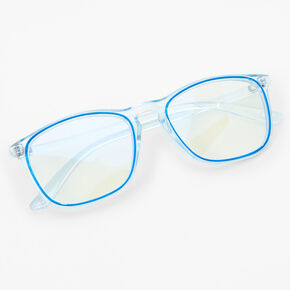 Retro Trim Clear Lens Frames - Blue,