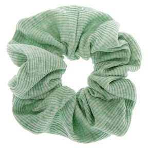 Medium Ribbed Hair Scrunchie - Mint,