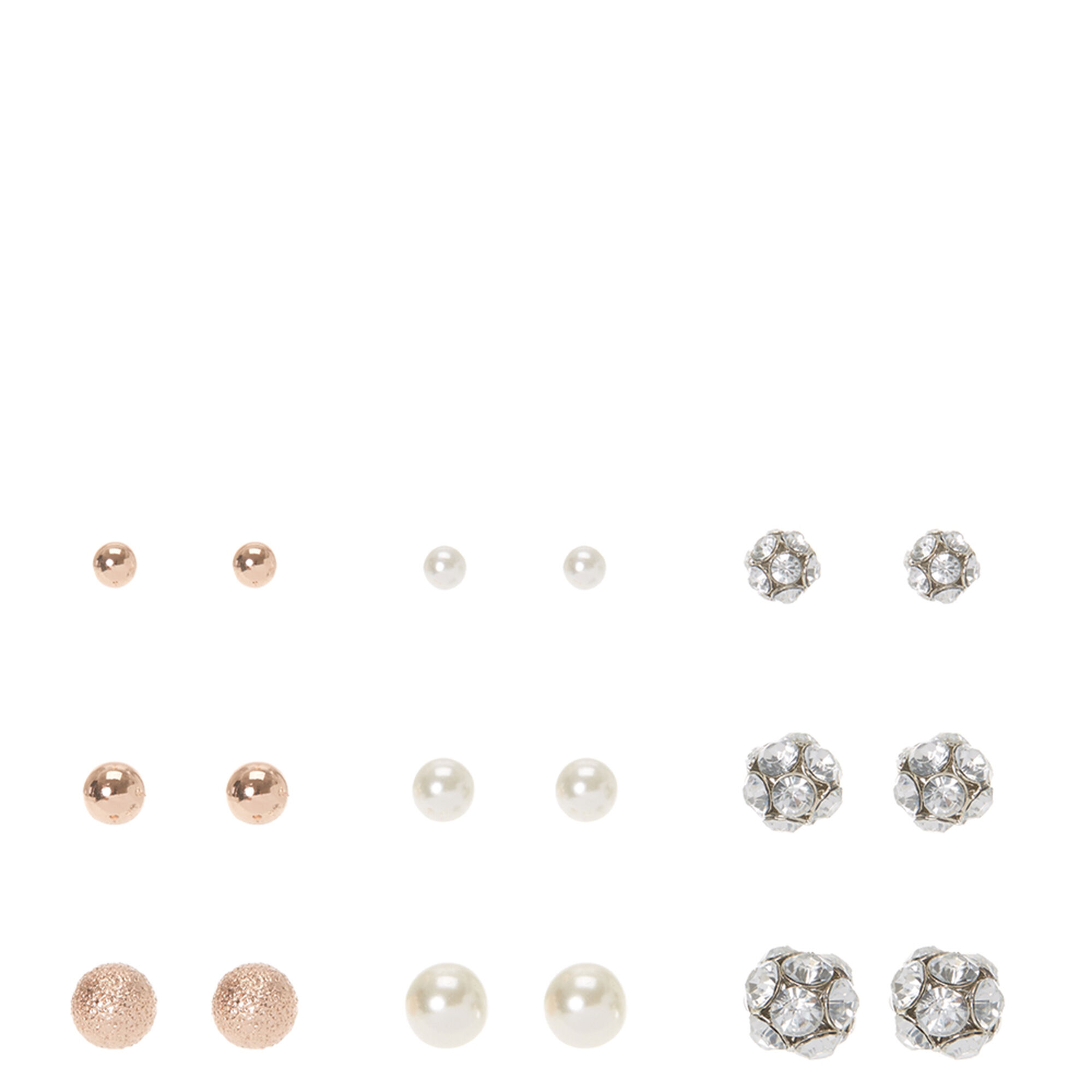 stud s earrings pack claire crystal pearl fr et faux