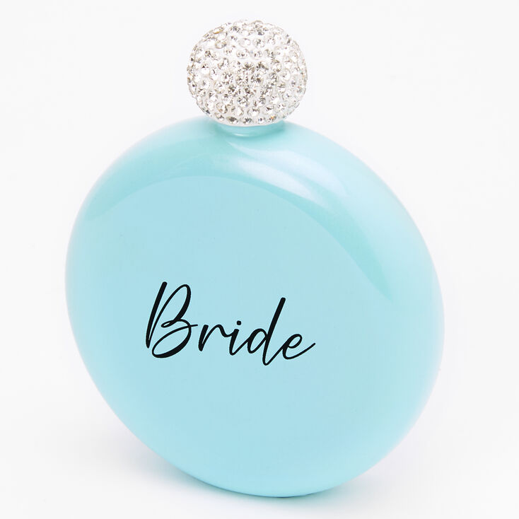 Round Bride Flask - Blue,