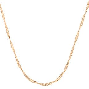 Gold Twist Chain Necklace,