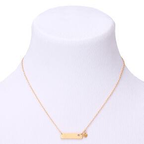 Gold June Birthstone Bar Pendant Necklace - Light Amethyst,