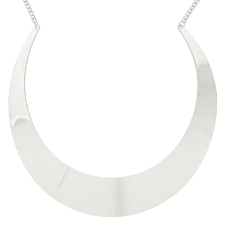 Silver Collar Statement Necklace,