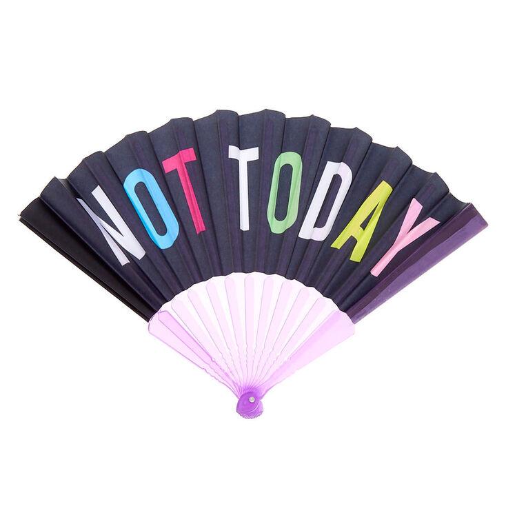 Not Today Folding Fan - Purple,