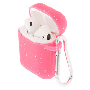 Hot Pink Silicone Earbud Case - Compatible With Apple Airpods,