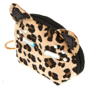 Fancy Fur Cat Coin Purse - Leopard,