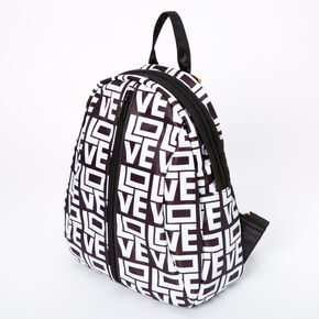Love Block Letters Small Backpack - Black,