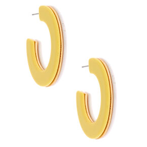 Gold 40MM Double-Color Hoop Earrings - Yellow,