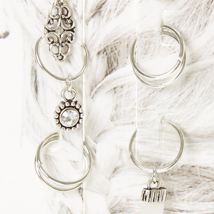 Silver Festival Hair Rings,