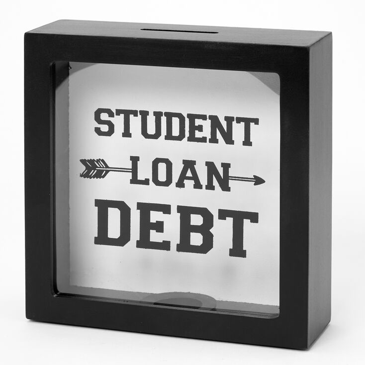 Student Loan Debt Bank - Black,