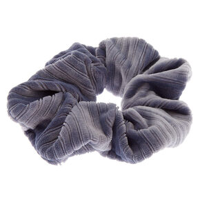 Ribbed Velvet Hair Scrunchie - Blue,