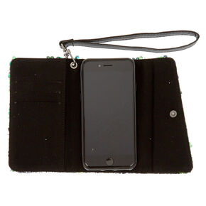 Mermaid Reverse Sequin Folio Phone Case - Fits iPhone 6/7/8,