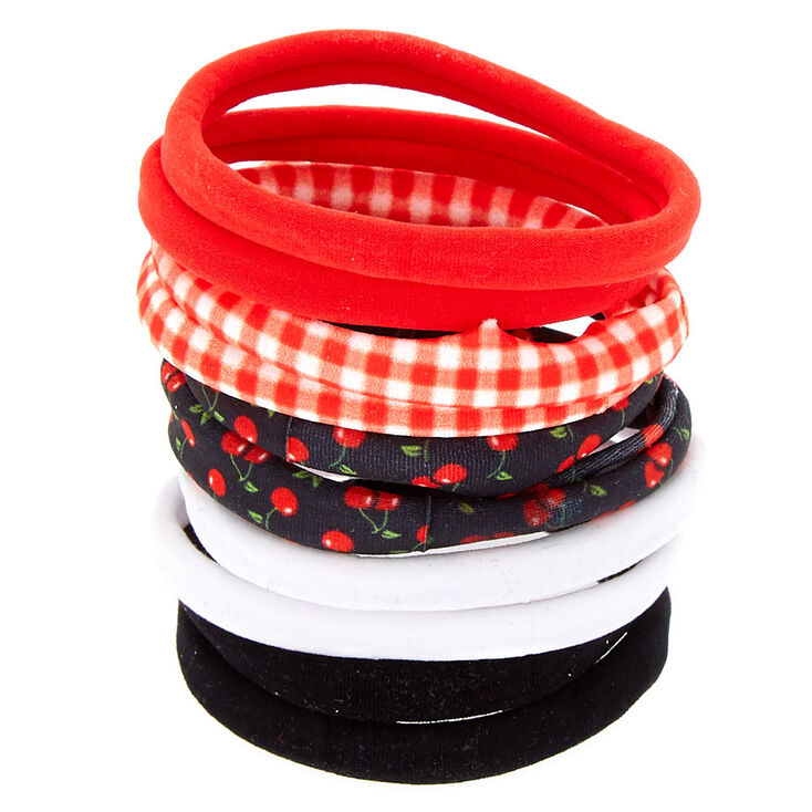 Cherry Hair Ties - Red, 10 Pack,