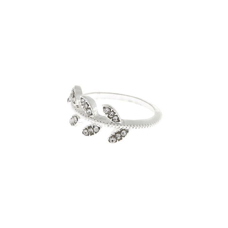 Silver Leaf Ring,