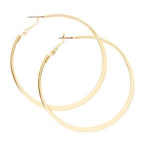 Gold Flat 60MM Hoop Earrings,