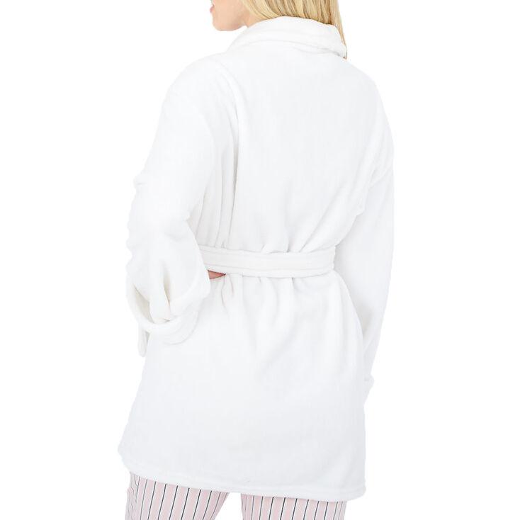 Floral Mom Robe - White,