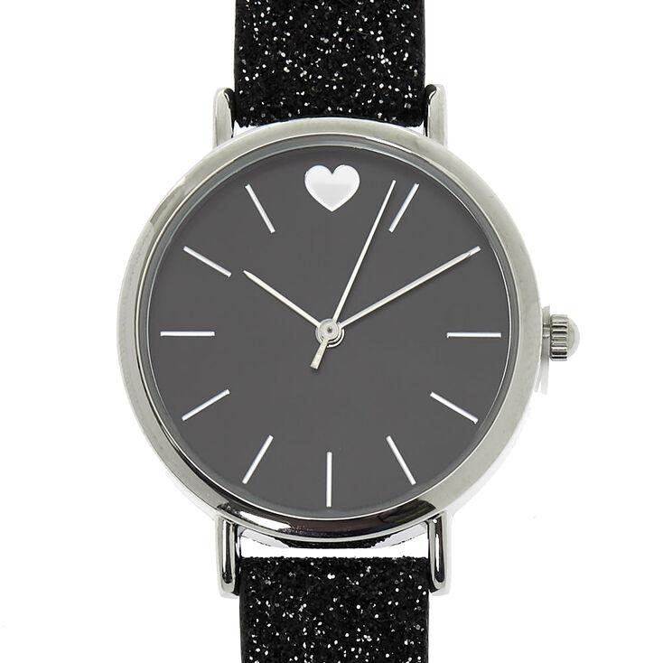 Glitter Classic Watch - Black,