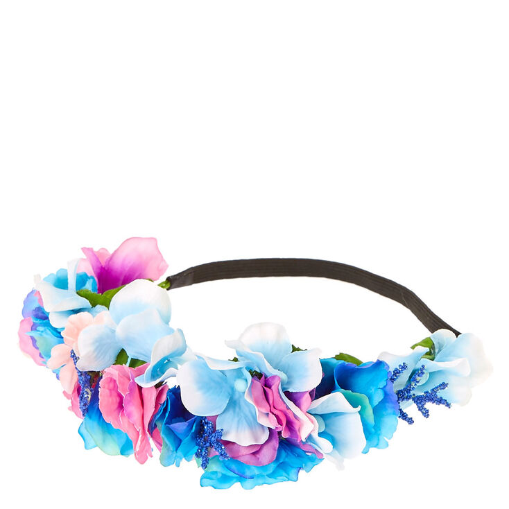 Purple Pink  amp  Blue Pastel Flower Crown 804f1c40dd5