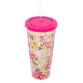 Graffiti Hearts Tumbler Cup,