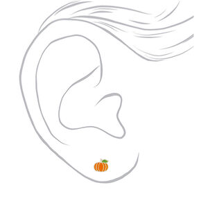 Sterling Silver Pumpkin Spice Stud Earrings,