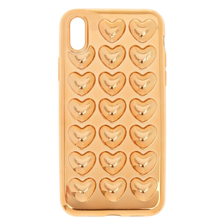 Rose Gold Heart Phone Case - Fits iPhone X/XS,