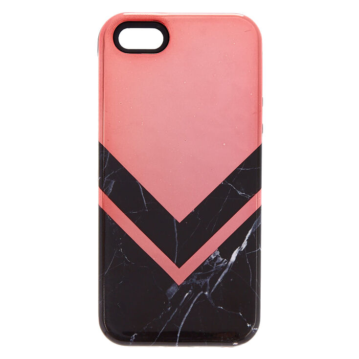 Black Marble Geometric Protective Phone Case - Fits iPhone 5/5S/5SE,