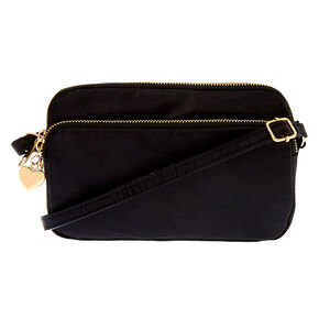 Nylon Classic Rectangle Crossbody Bag - Black,
