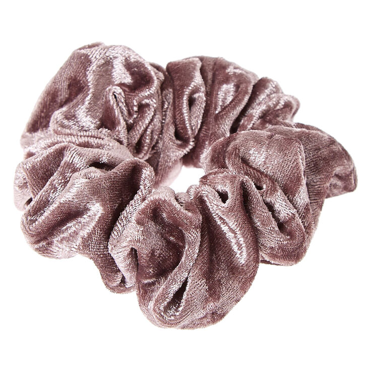 Medium Velvet Hair Scrunchie - Gray,