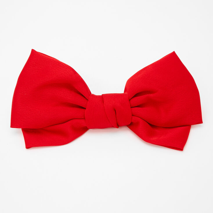 1940s Hair Accessories- Flowers, Snoods, Clips, Wigs, Bandannas Icing Large Hair Bow Clip - Red $7.99 AT vintagedancer.com
