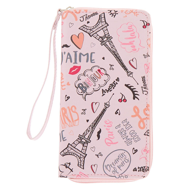 Paris Love Wristlet - Pink,