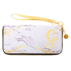 Marble Initial Wristlet - G,