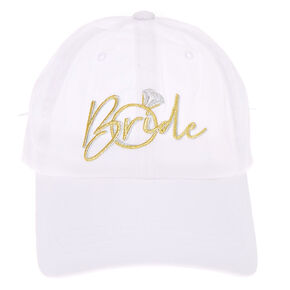 Bride Baseball Cap - White,