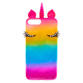 Metallic Rainbow Unicorn Phone Case - Fits iPhone 6/7/8 Plus,