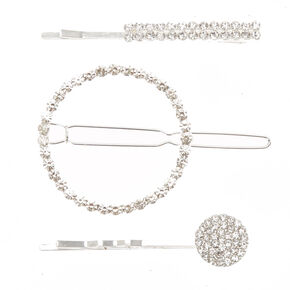 Geometric Faux Crystal Hair Clip & Bobby Pins,