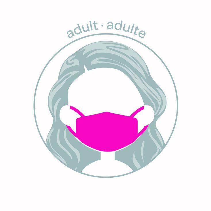3 Pack Cotton Black & Pink Polka Dot Face Masks – Adult,