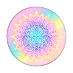 Pastel Rainbow Mandala PopSocket,