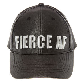 Black Glitter Fierce AF Baseball Hat,