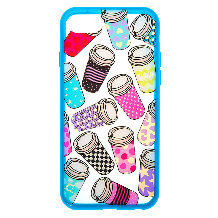Coffee Cup Clear Phone Case - Fits iPhone 6/7/8,