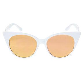 Oversized Mod Cat Eye Sunglasses - White,