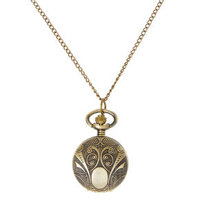 Gold Etched Watch Locket,