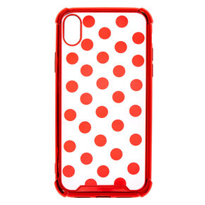 Red Polka Dot Phone Case - Fits iPhone XR,