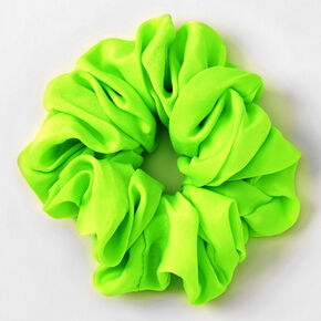 Giant Silky Hair Scrunchie - Neon Green,