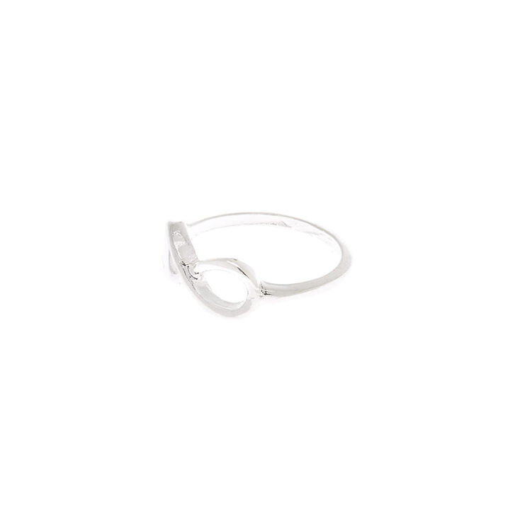 Silver Infinity Ring,