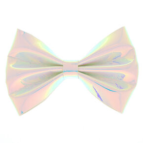 Holographic Mini Bow Hair Clip,