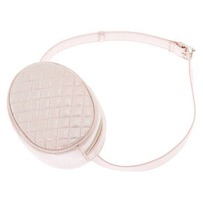 Faux Leather Quilted Fashion Fanny Pack - Pink,
