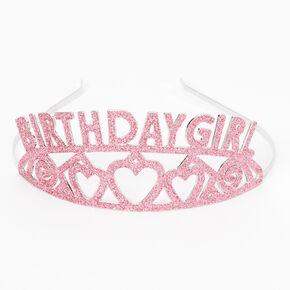 Birthday Girl Glitter Tiara - Pink,