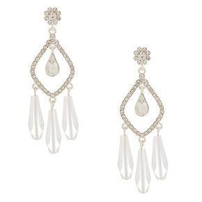 "2"" Ice Teardrop Drop Earrings,"
