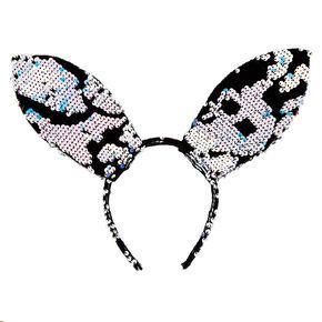Velvet Sequin Bunny Ears Headband - Blue,