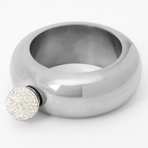 Engagement Ring Bangle Bracelet Flask - Silver,